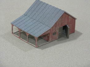 HO Scale Small Barn and Accessories