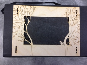 Laser cut Forest Frame w/ Squirrel