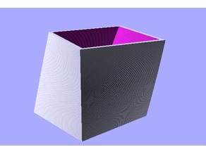 Curved square box