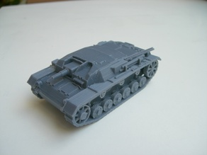 Stug III b - devided into 4 major parts