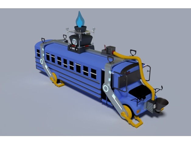 Battle Bus Fortnite By Quinventor Thingiverse