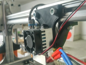 Cyclops/Chymera E3D extruder holder with inductive sensor for K8200
