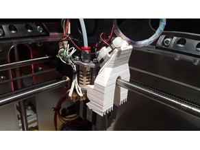 K8400 fan shroud duct clip MK3 - no screws needed