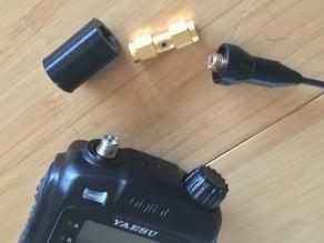 Yaesu SMAJ to SMA antenna adapter sleeve