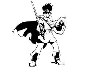 DQ Hero Erdrick stencil
