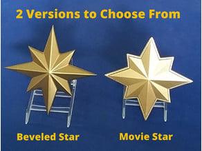 Captain Marvel (Carol Danvers) Inspired Chest Star for Cosplay