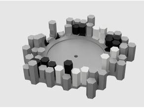 Echo Input hexagon wall mount