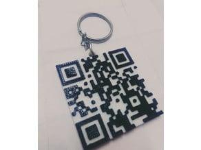 Valentine day QR code keychain