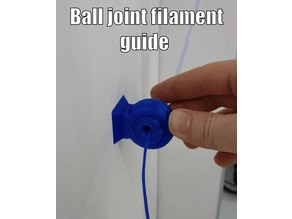 Ball Joint Filament Guide - 6mm threaded bowden coupling