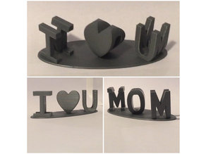 I Heart U MOM 2 view Art