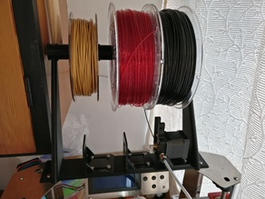 3 x extruder motor and 3 x spool mount for Zonestar P802Q preparing for diamond hotend