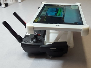Customizable Remix of DJI Controller Tablet adapter, foldable