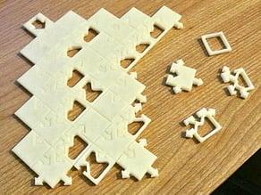 Rule 30 tile puzzle