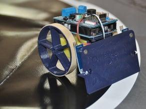 PUSH-E Mini SUMO simple arduino sumo bot test