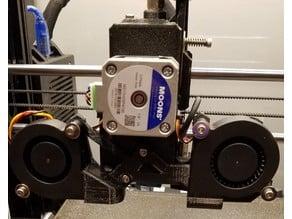 Prusa MK3S Bondtech BMG Dual Fan Duct