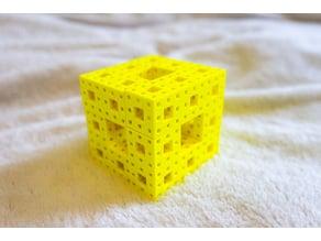 Mathematical Art (Fractal Art): Menger Sponge Puzzle