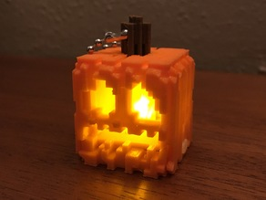 Snap-Together Mini Minecraft Jack-O-Lantern with integrated LED