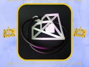 Heart squared pendant