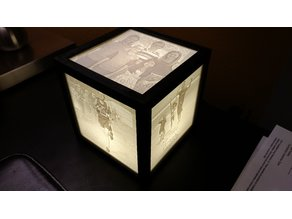 Lithophane Lamp Frame -- Optimized for Minimal Frame Thickness