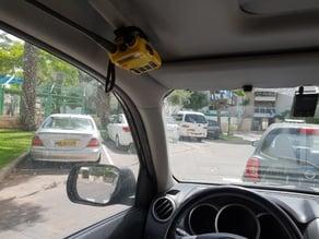Car ceiling radio holder