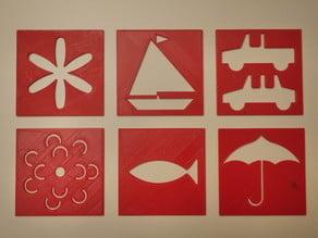 Quilt pattern templates