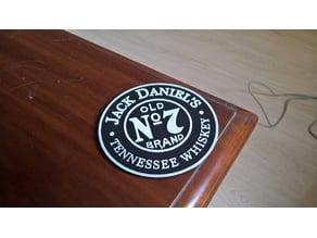 Jack Daniel's coasters (+ dual extruder)