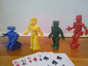 Robot Poker Modular Playing Card Robots