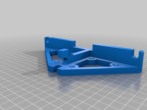 Anet A6 Back Frame Brace with Screwholes