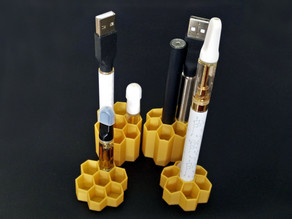 Vape Pen Stand and Cartridge Storage Honeycomb
