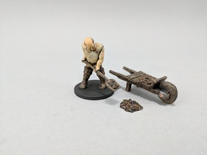 28mm Dung Sweeper with Wheelbarrow
