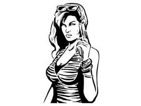 GTA chick stencil