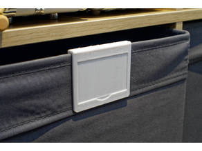 Label Clip for Ikea Kallax Dröna
