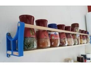 Spice rack braces