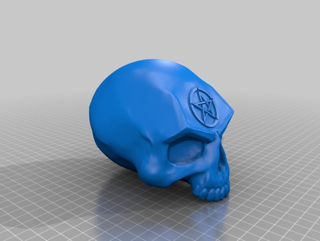 SKULL - CURSED by bugman_140 - Thingiverse