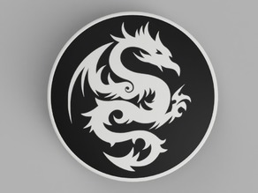 hood / trunk logo Bicolor Dragon03 82mm / 74mm for BMW vehicles