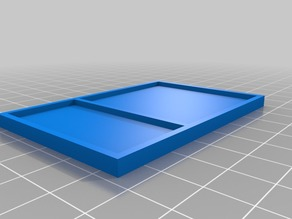 75x50x4mm Small Divided Parts Tray
