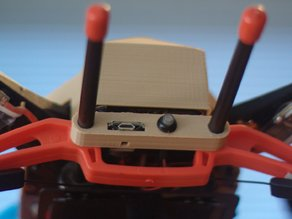 Pixhawk button + USB/LED module mount