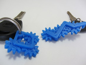 Keychain with rotateable gears
