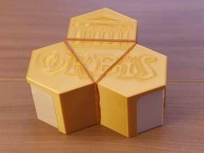 Orbis game travel box - tiles & tokens dipensers