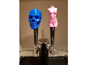 Beer tap handle with multiple tops