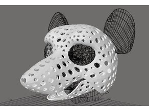 Fursuit- or puppet-head base - version 48 - rat
