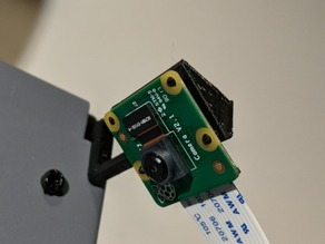 Wanhao Duplicator i3 or Cocoon Create Plus Raspberry Pi Camera v2.1 mount (OpenSCAD)