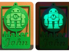 Maker Robot Badge