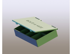Box with lid for bolts and nuts
