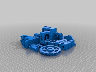 Prusa iT3 single, all things in one plate!