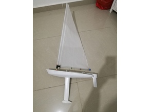 RC laser dinghy sail boat