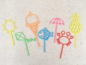 Summer Beach Bubble Wands