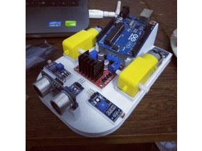 light following arduino robot / Ultrasonic robot