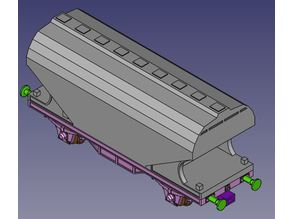 Hopper car body, for Marklin hobby range car chassis