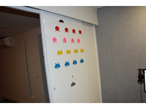Space Invaders Wall Mount